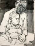 Dad holding Ben ink